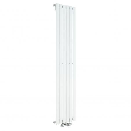 Grzejnik dekoracyjny Ultimate pojedynczy 160x36cm biały z zaworem zespolonym Vario Term Twins prawym chromowanym