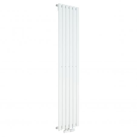Grzejnik dekoracyjny Ultimate pojedynczy 160x36cm biały z zaworem zespolonym Multiflow białym prawym