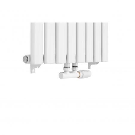 Grzejnik dekoracyjny Ultimate pojedynczy 160x48cm biały z zaworem zespolonym Multiflow prawym białym