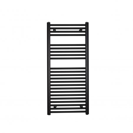 Grzejnik łazienkowy drabinkowy Constans 110x50cm w kolorze czarnym z podłączeniem dolnym o rozstawie 455mm