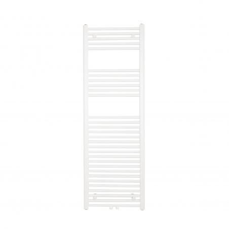 Grzejnik łazienkowy drabinkowy Constans 150x50cm w kolorze białym z podłączeniem dolnym środkowym o rozstawie 50mm.