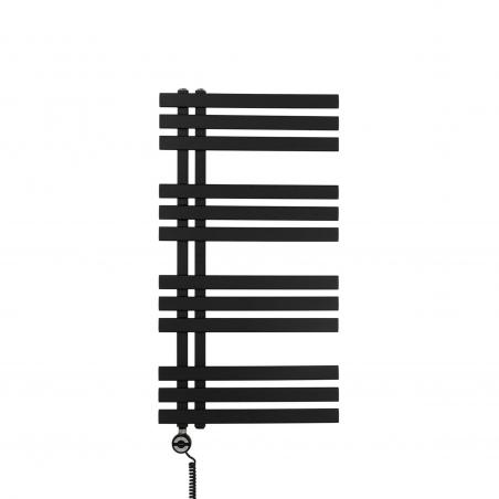 Grzejnik łazienkowy Elche 94x50cm czarny z grzałką Terma Moa czarną
